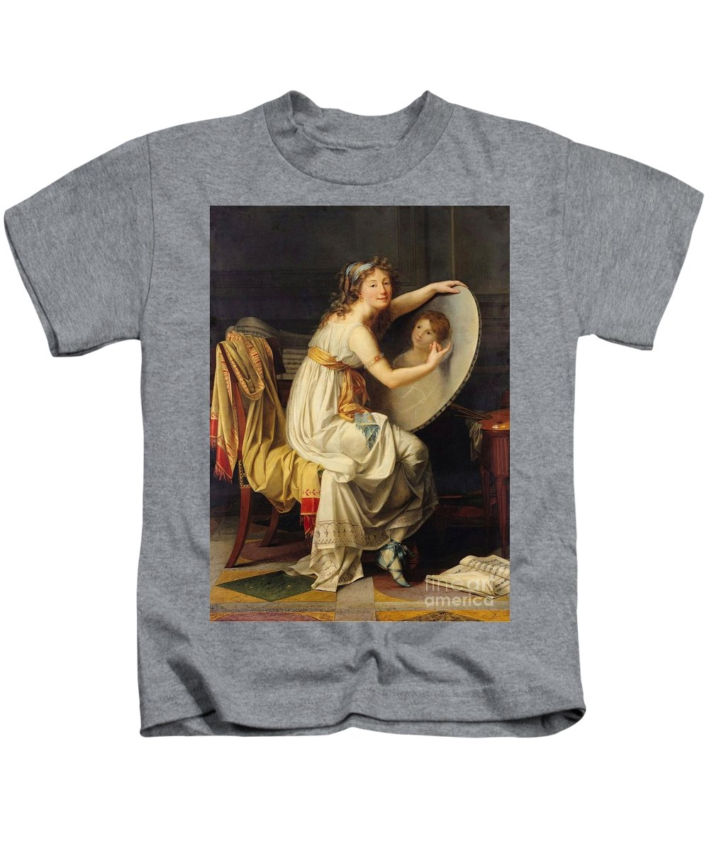 Jacques-louis David Kids T-Shirt featuring the painting The Bath by MotionAge Designs