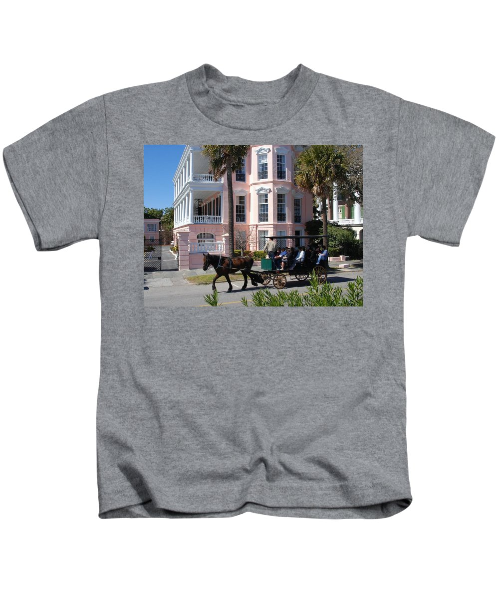 Photography Kids T-Shirt featuring the photograph The Battery in Charleston by Susanne Van Hulst