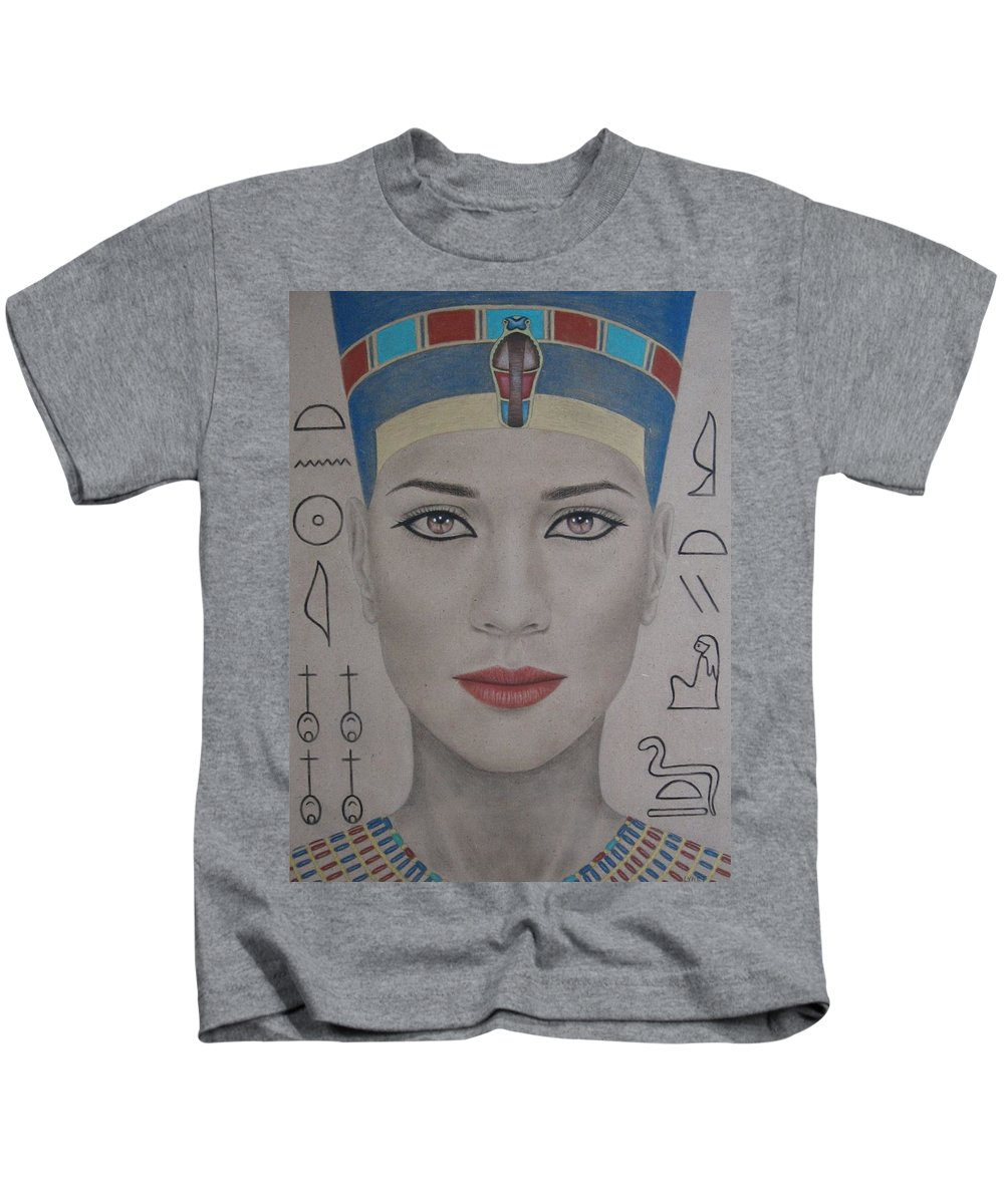 Woman Kids T-Shirt featuring the painting The Beautiful One Has Come by Lynet McDonald