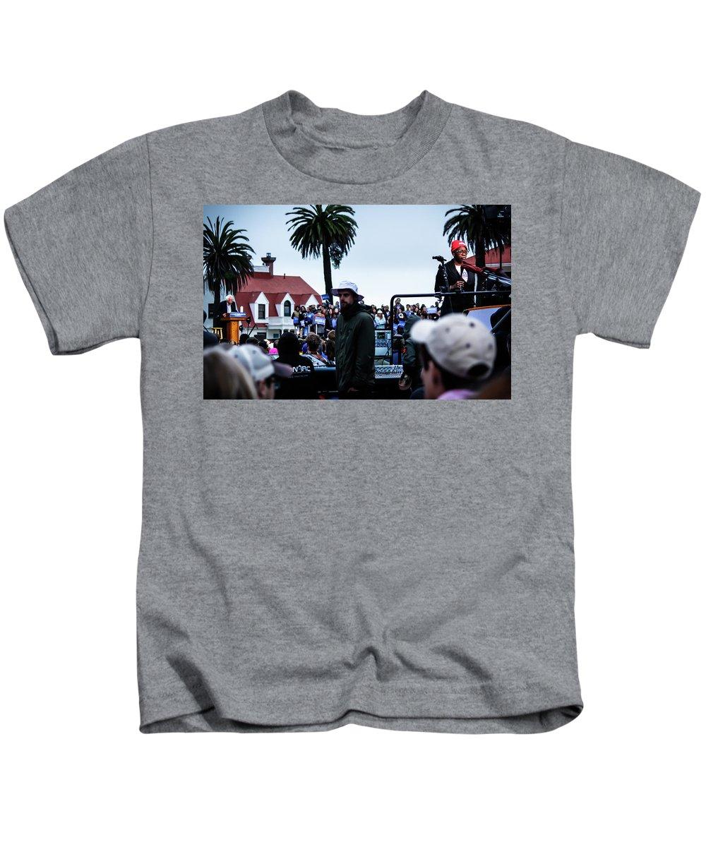 Feel The Bern Kids T-Shirt featuring the photograph The Bern Unit by Nick Mattea