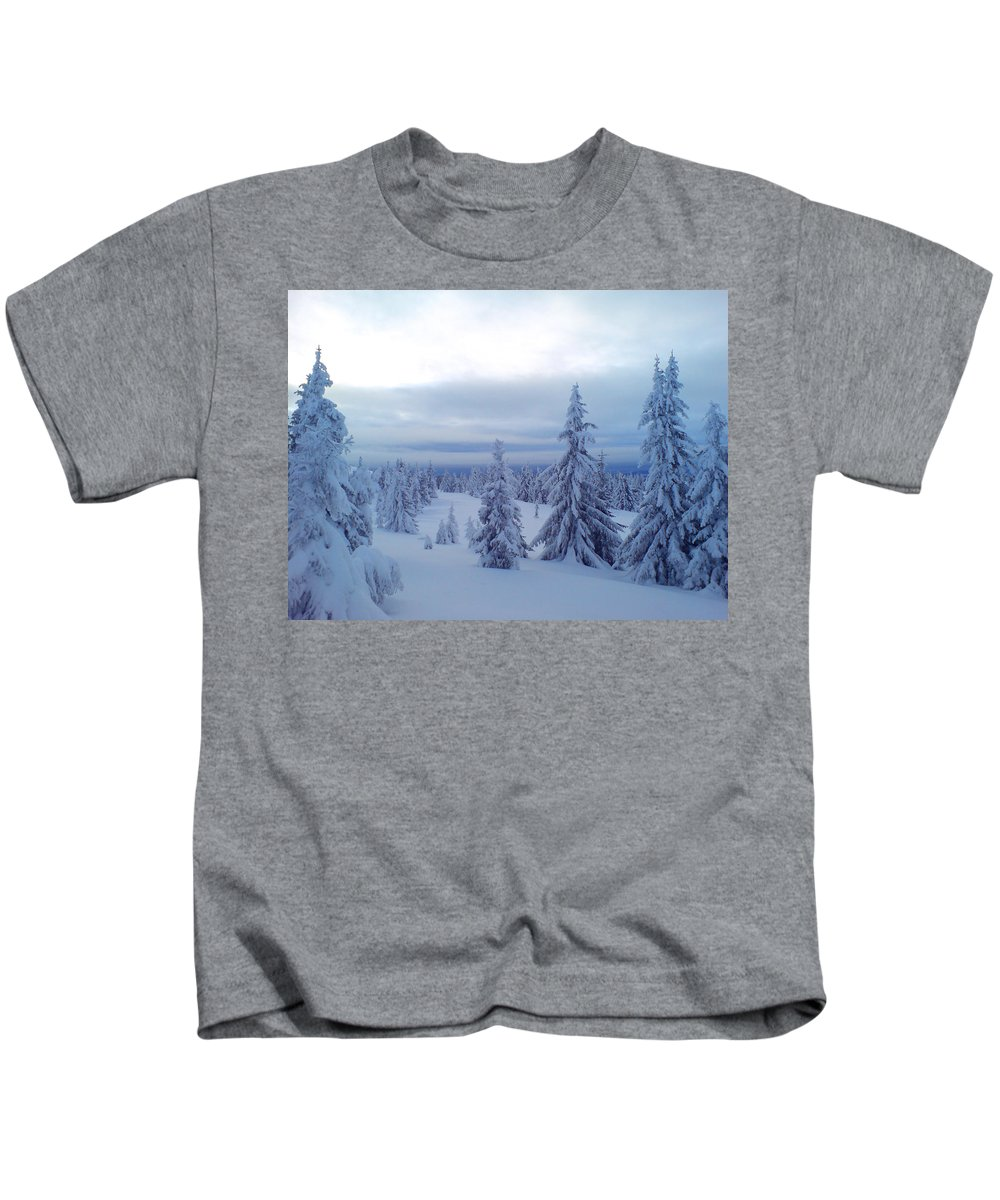 Trees Kids T-Shirt featuring the photograph The Blue Hour by Are Lund