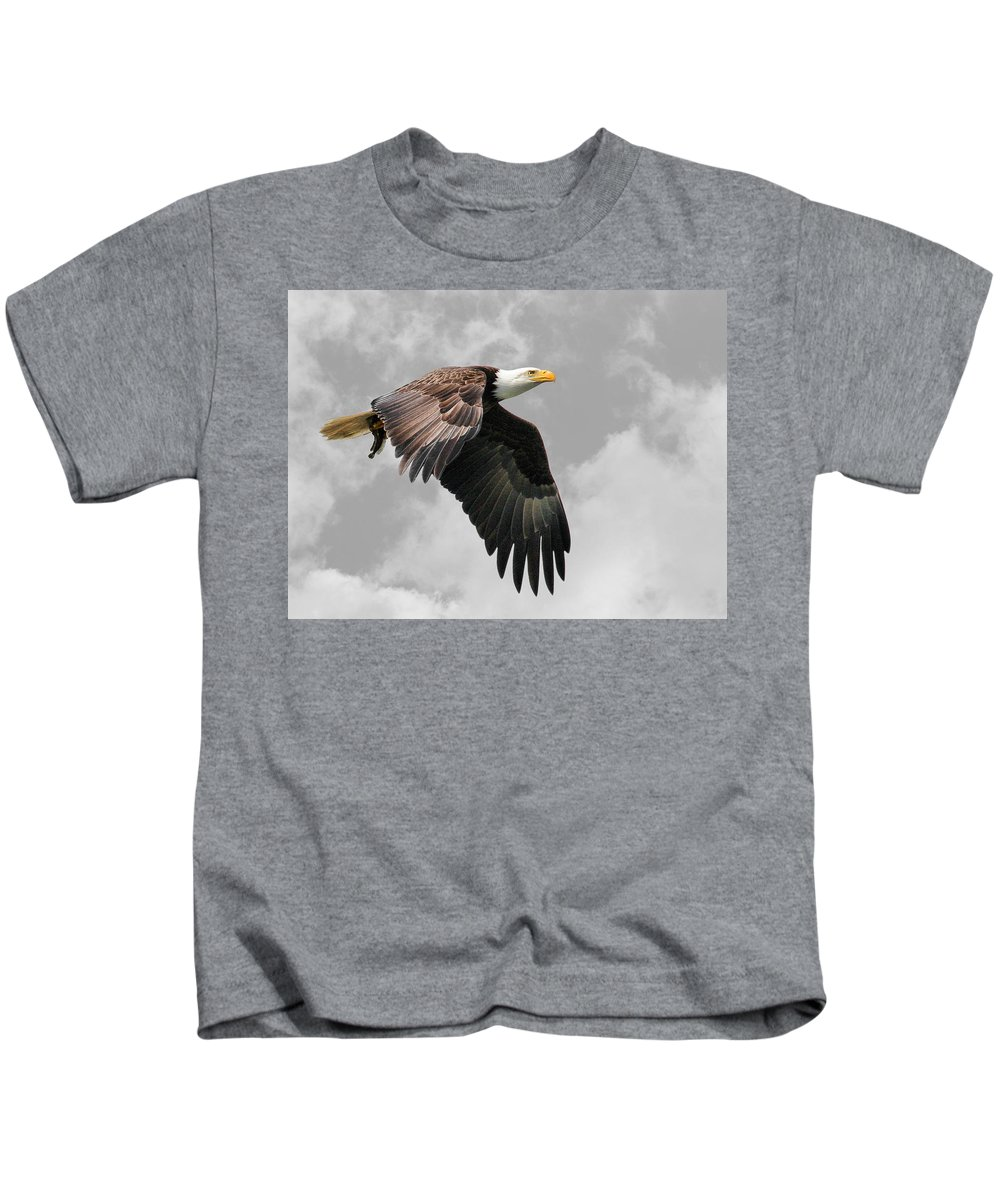 Eagle Kids T-Shirt featuring the photograph The Bounty by Steve McKinzie
