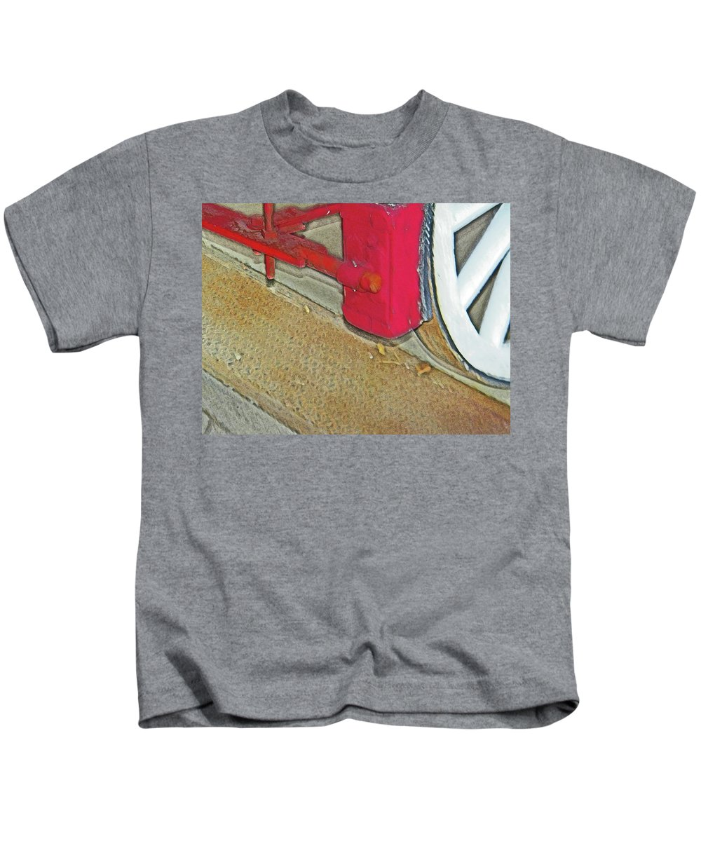 Abstract Kids T-Shirt featuring the photograph The Brake by Lenore Senior