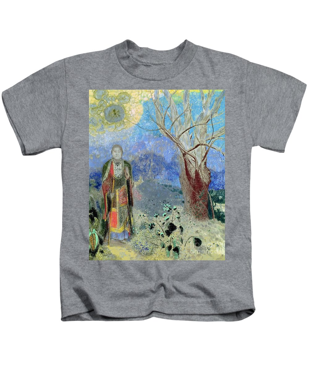 The Kids T-Shirt featuring the painting The Buddha by Odilon Redon