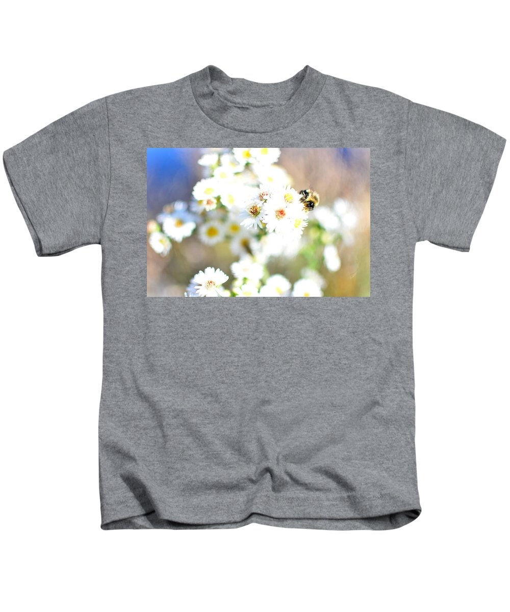 Bee Kids T-Shirt featuring the photograph The Buzz by Rachel Dyson Hrpcek