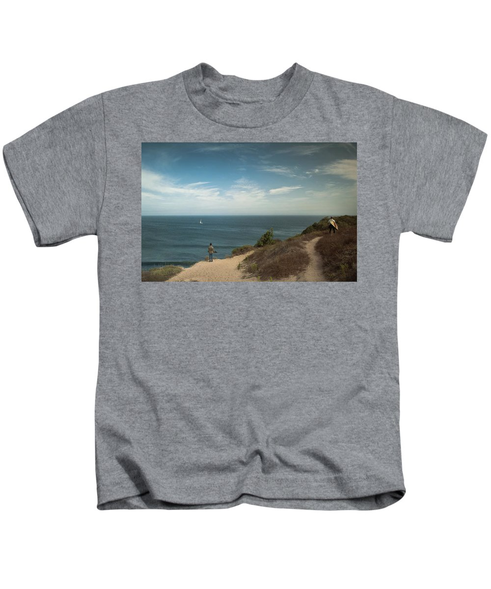 Landscape Kids T-Shirt featuring the photograph The Captivating Sailboat by Justin Carrasquillo