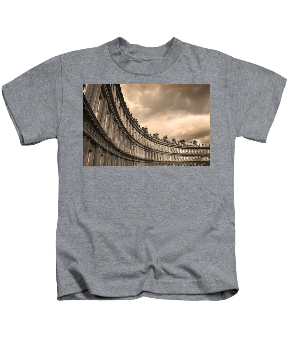 Bath Kids T-Shirt featuring the photograph The Circus Bath England by Mal Bray