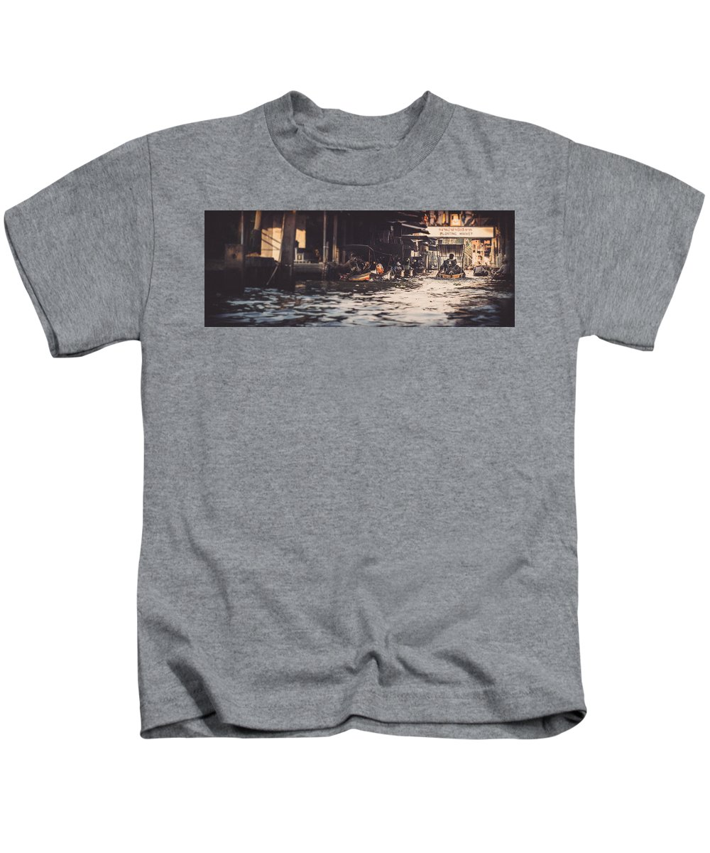 Asia Kids T-Shirt featuring the photograph The City On The Water. Thailand. by Iliya Vasyutovich