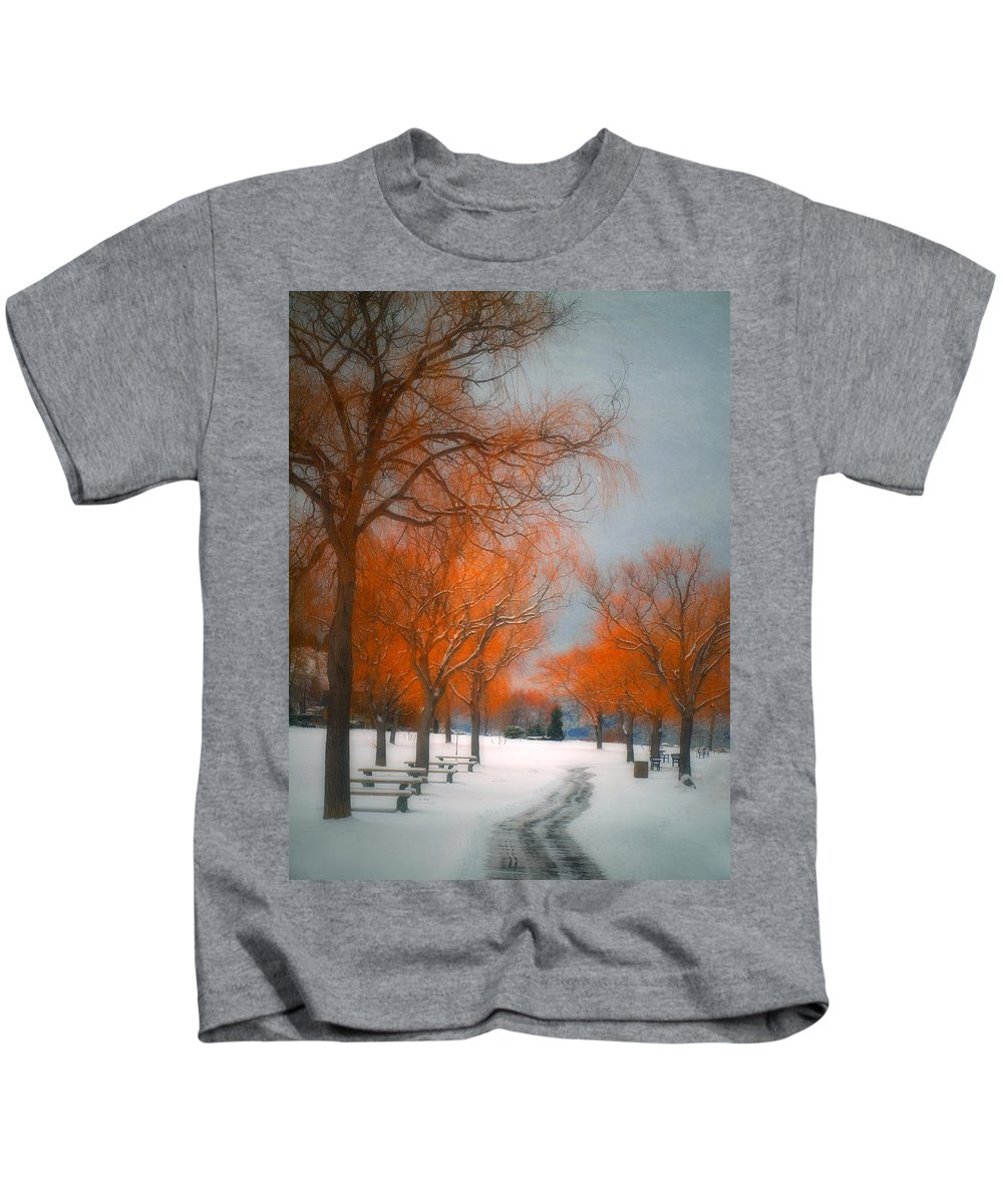 Summerland Kids T-Shirt featuring the photograph The Colours Of Winter by Tara Turner