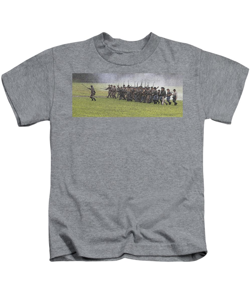 Civil War Kids T-Shirt featuring the photograph The Conflict by Robert Pearson
