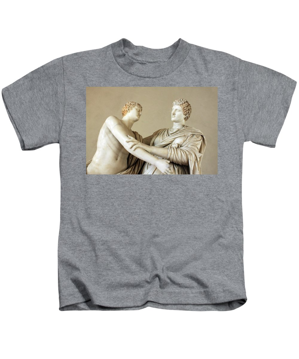 Statues Kids T-Shirt featuring the photograph The Conversation by Munir Alawi