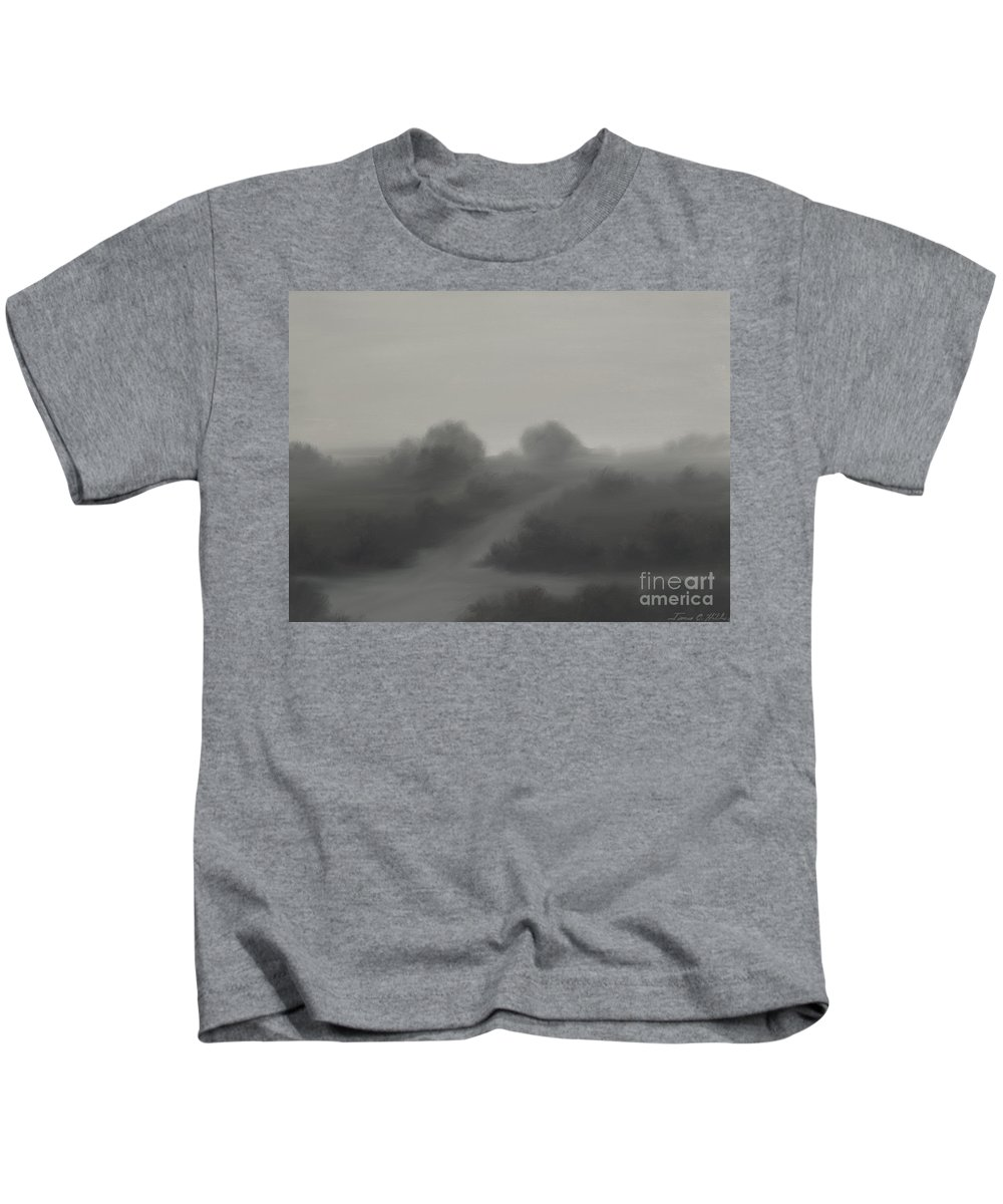Landscape Kids T-Shirt featuring the painting The Crossroads by James Christopher Hill