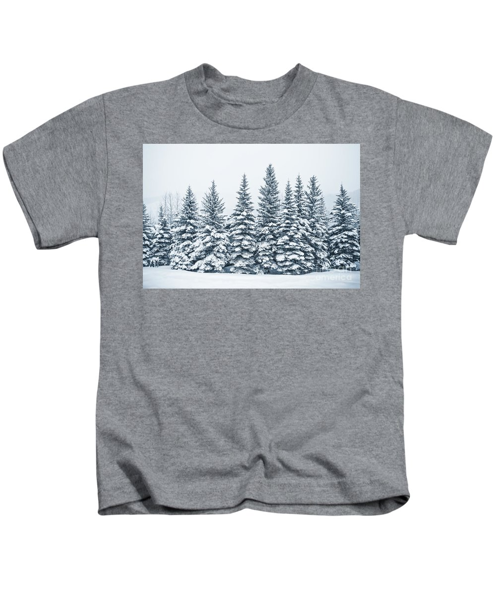 Kremsdorf Kids T-Shirt featuring the photograph The Crown Of Winter by Evelina Kremsdorf