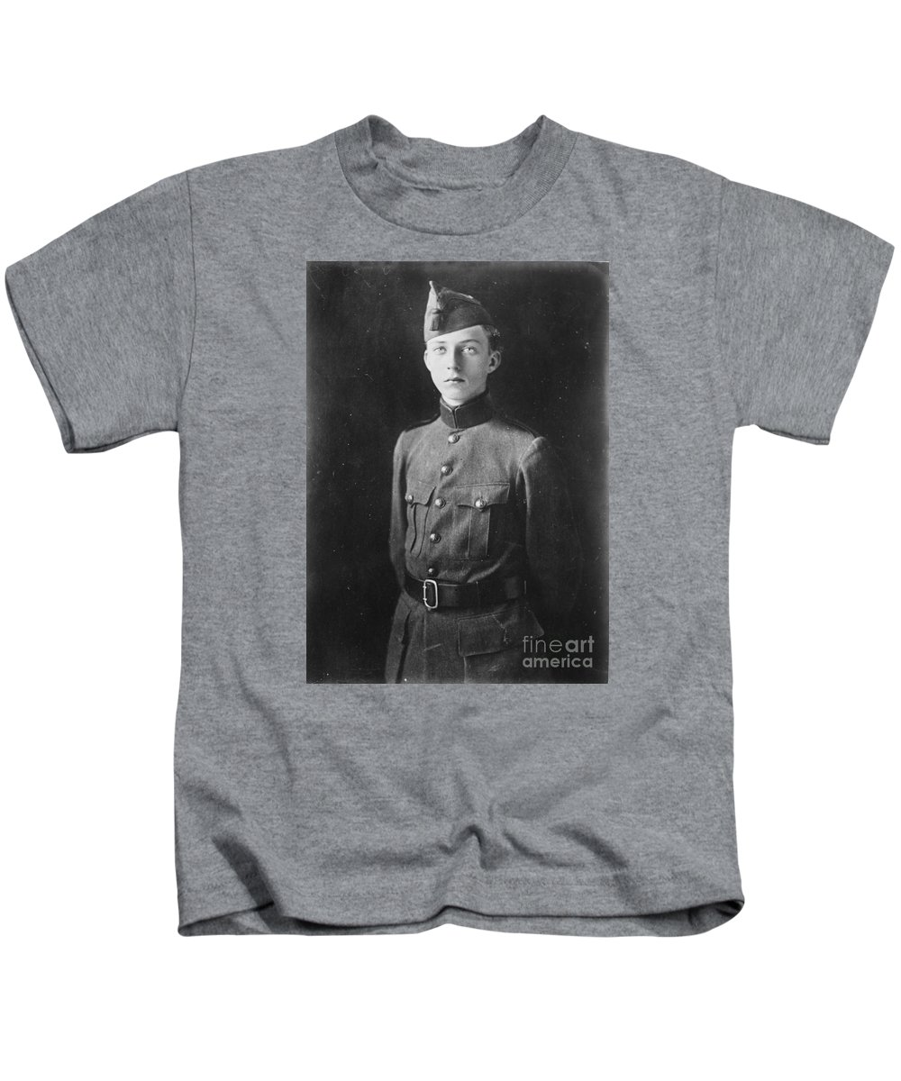 The Crown Prince L�opold Of The Belgians Prince L�opold Of Saxe-coburg And Gotha Kids T-Shirt featuring the painting The Crown Prince L Opold by MotionAge Designs