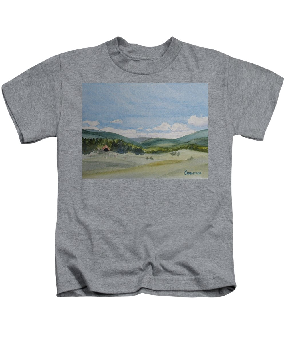 Dynamite Kids T-Shirt featuring the painting The Dynamite Dome by Jenny Armitage