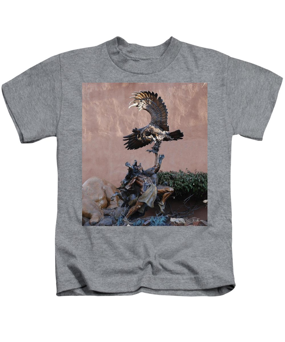 Eagle Kids T-Shirt featuring the photograph The Eagle And The Indian by Rob Hans