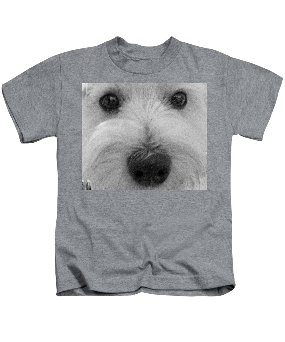 Dog Kids T-Shirt featuring the photograph The Eyes Have It by Ed Smith