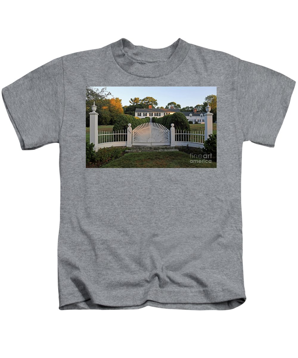 Gate Kids T-Shirt featuring the photograph The Gate by Steve Gass