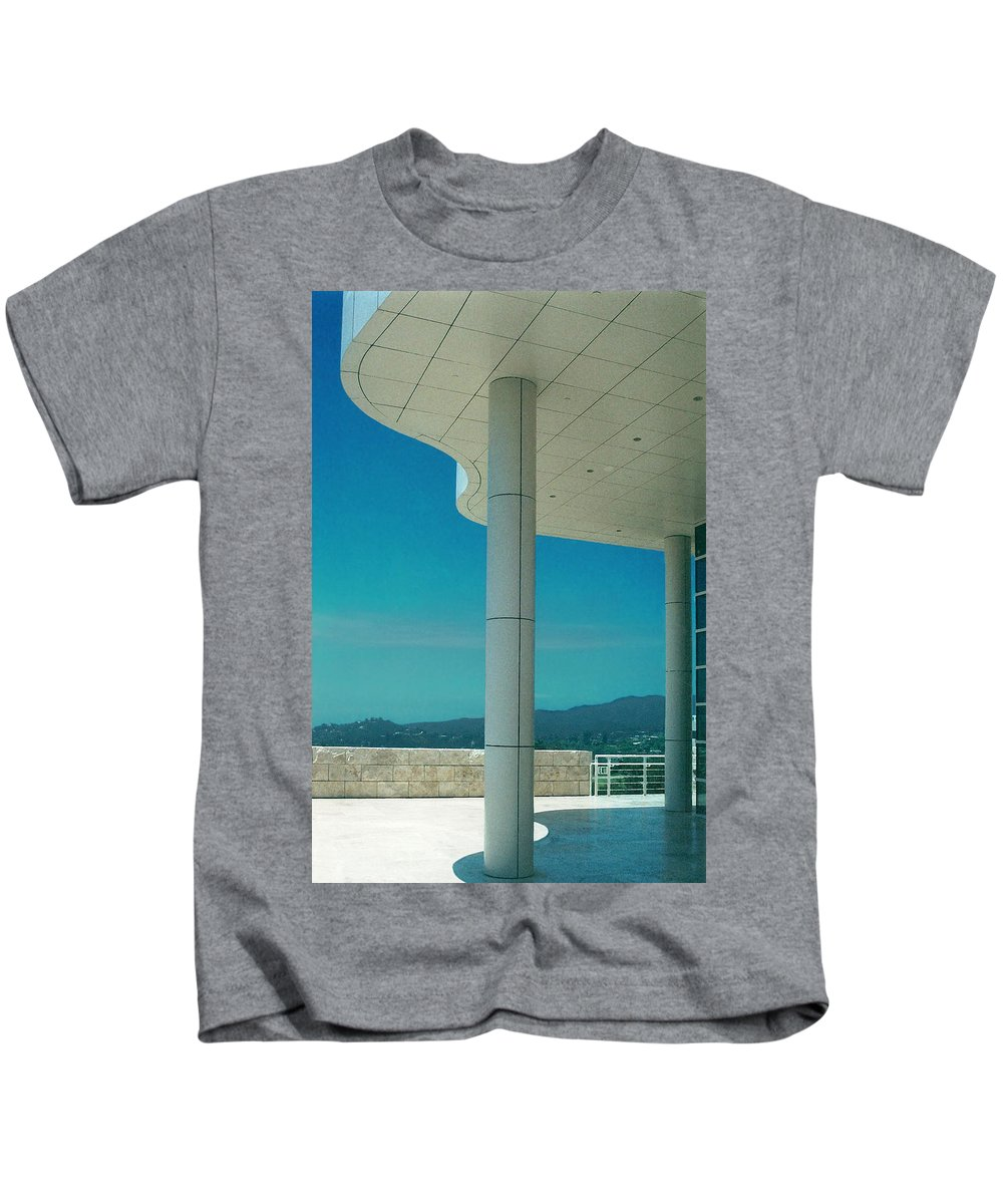 Architecture Kids T-Shirt featuring the photograph The Getty Panel 2 Of Triptyck by Steve Karol