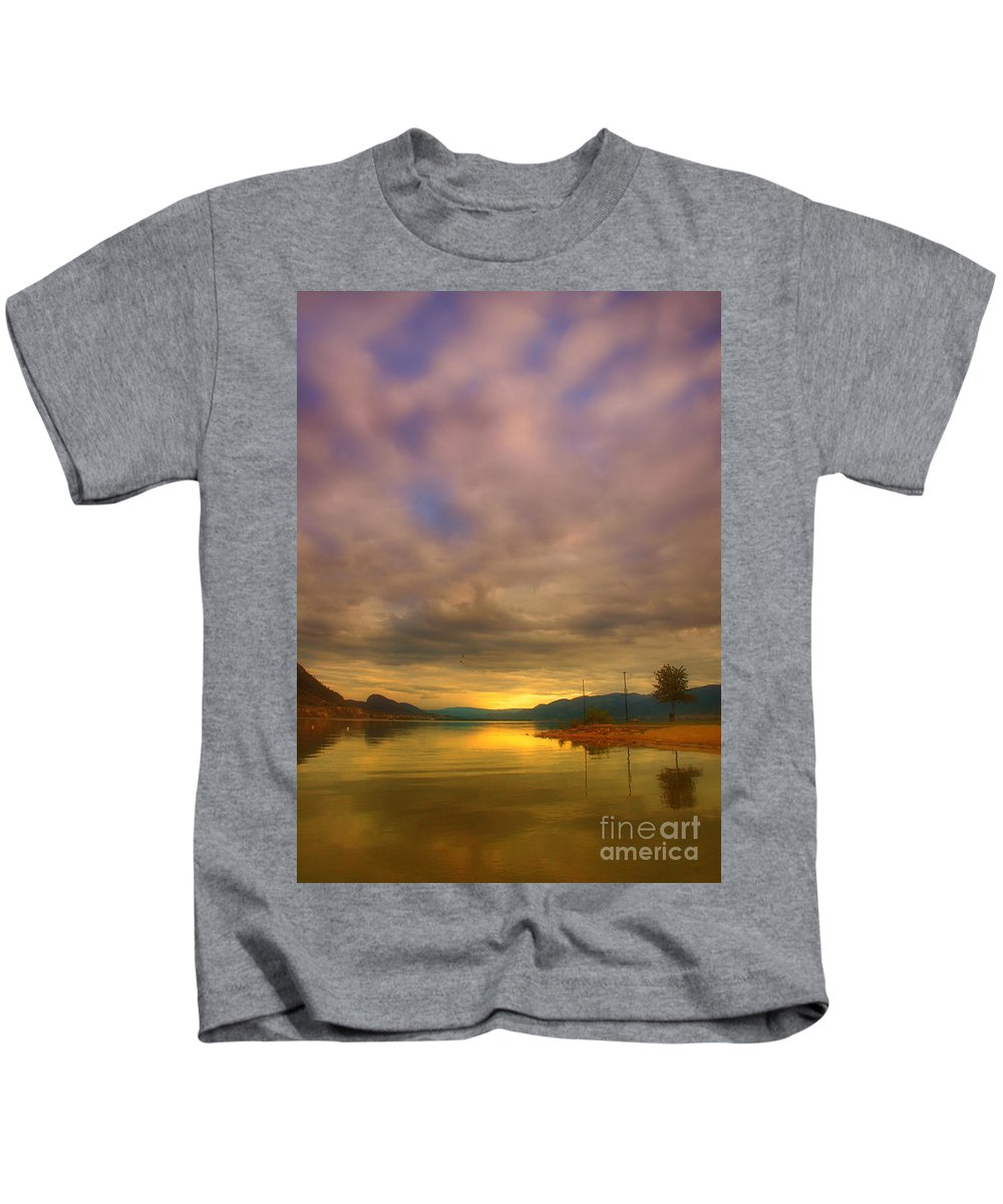 Sunrise Kids T-Shirt featuring the photograph The Golden Glow Of Morning by Tara Turner