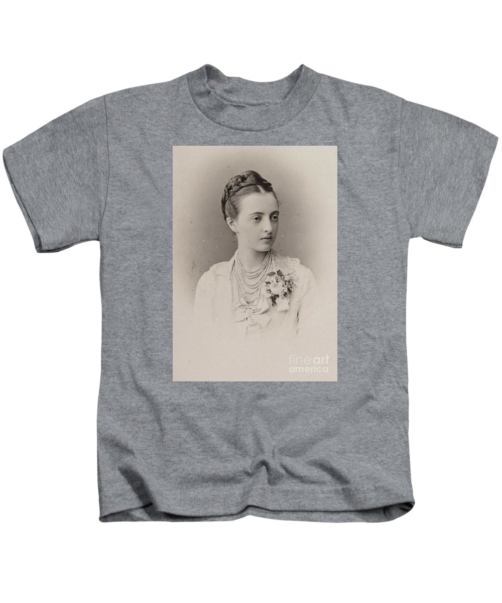 The Grand Duchess Anastasia Mihailovna Of Russia Kids T-Shirt featuring the painting The Grand Duchess Anastasia by MotionAge Designs
