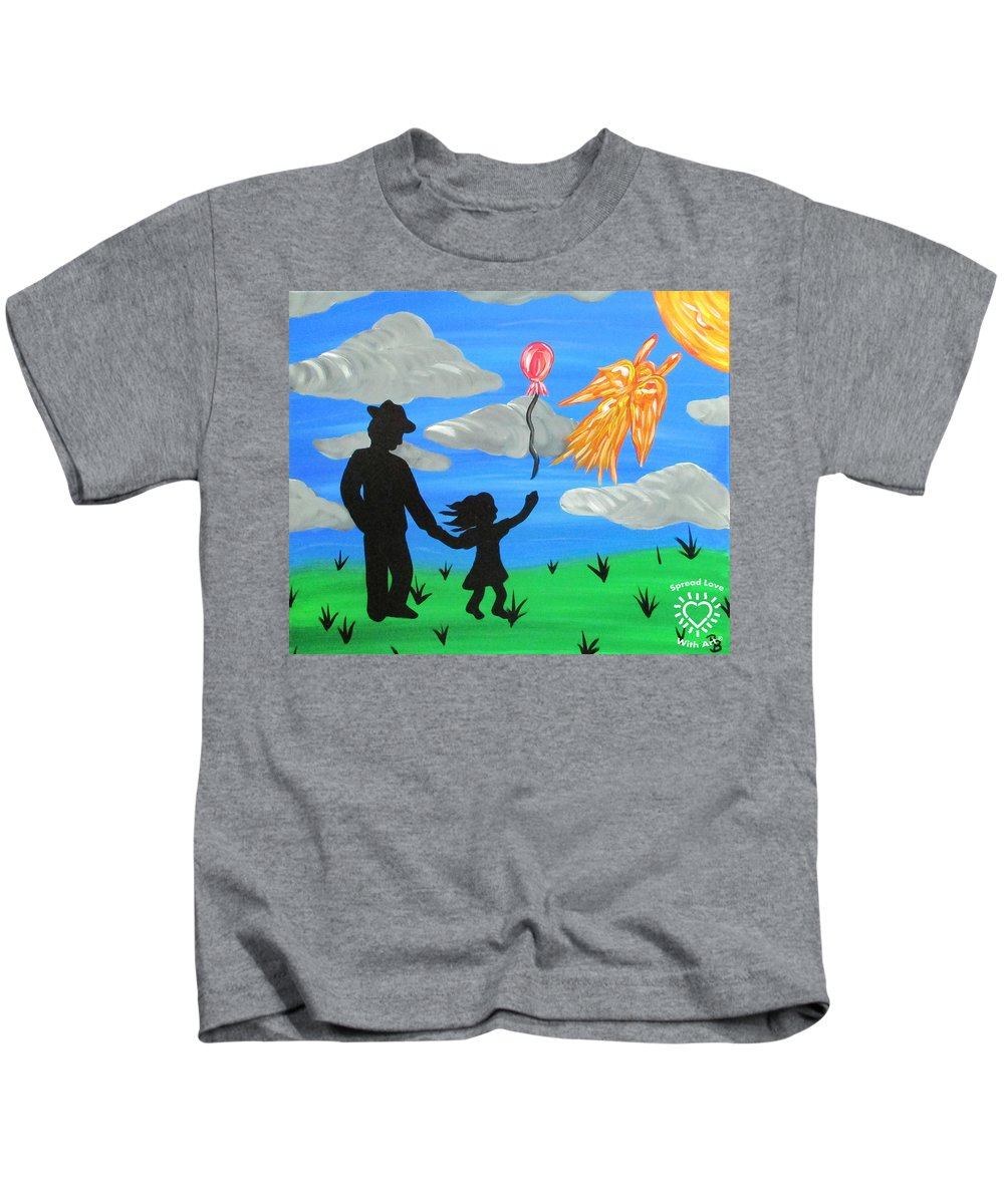 Abstract Kids T-Shirt featuring the painting The Guardian by Parker Beaudoin