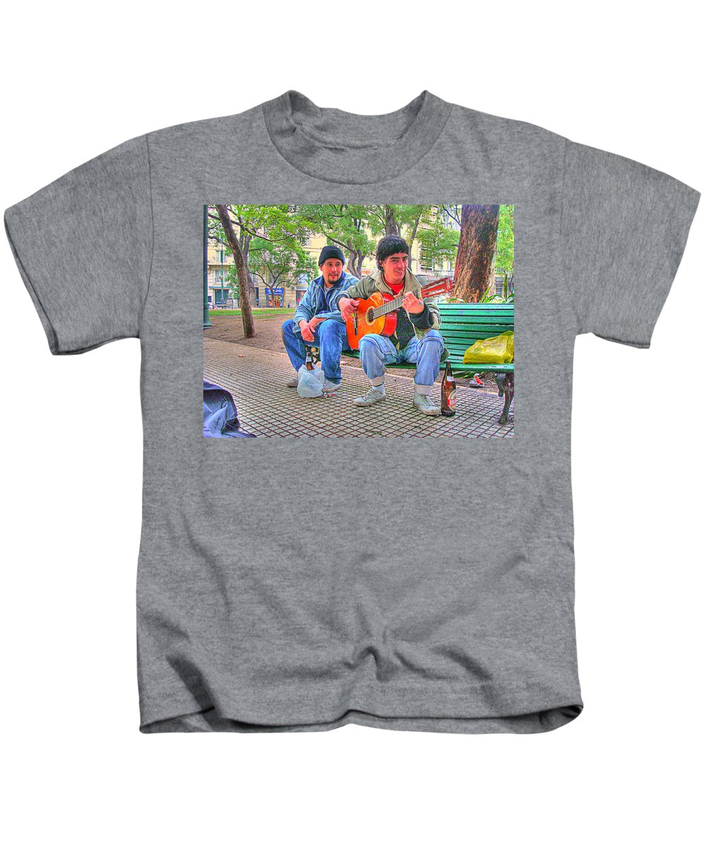 Park Kids T-Shirt featuring the photograph The Guitar by Francisco Colon