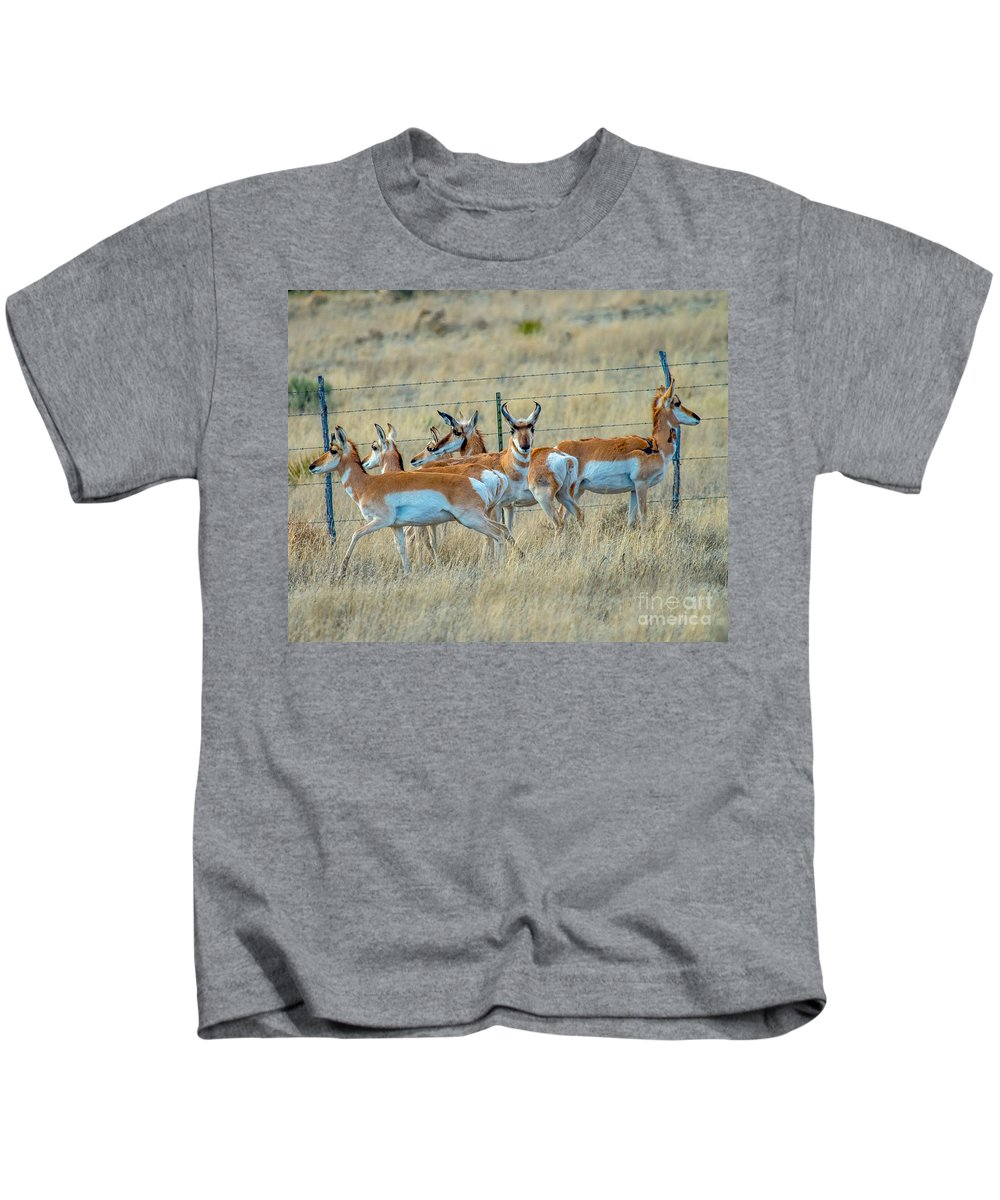 Herd Kids T-Shirt featuring the photograph The Herd by Stephen Whalen