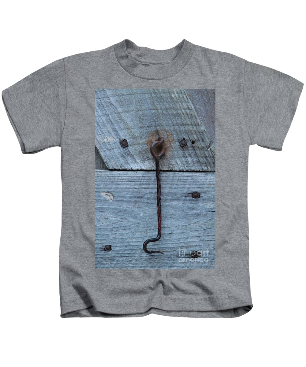 Swing Lock Kids T-Shirt featuring the photograph The Latch by Robert Pearson