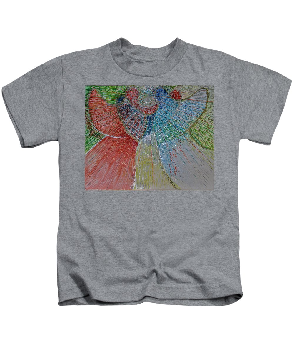 Drawing Kids T-Shirt featuring the painting The Light Within by Gideon Cohn