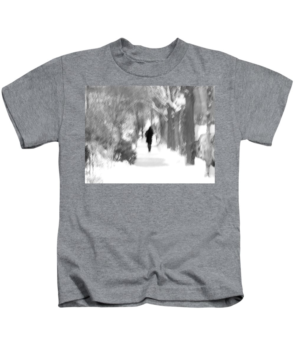 Blur Kids T-Shirt featuring the photograph The Long December by Dana DiPasquale