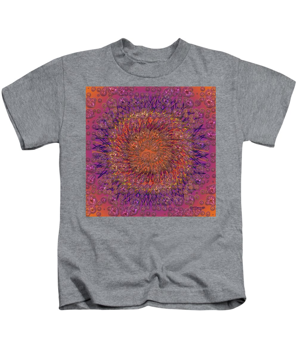 Abstract Kids T-Shirt featuring the digital art The Meditation Of Souls by Diane Parnell