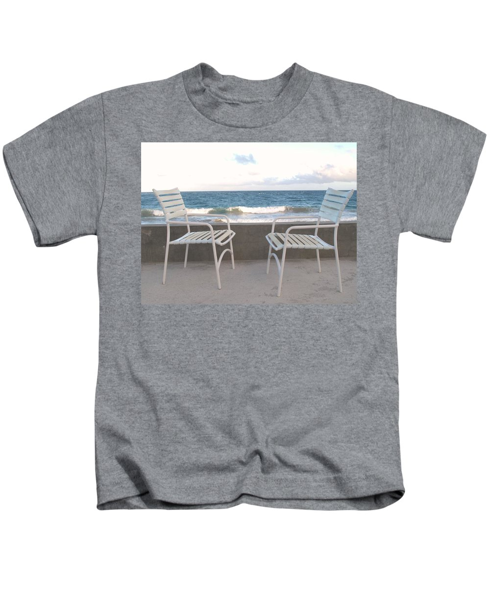 Seascape Kids T-Shirt featuring the photograph The Meeting by Ian MacDonald