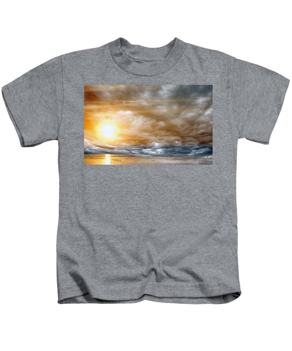 Sun Kids T-Shirt featuring the photograph The Meeting by Munir Alawi