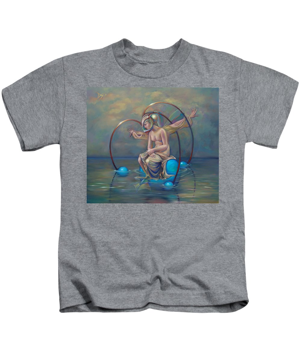 Earth Kids T-Shirt featuring the painting The Metamorphosis Of Gaia by Patrick Anthony Pierson