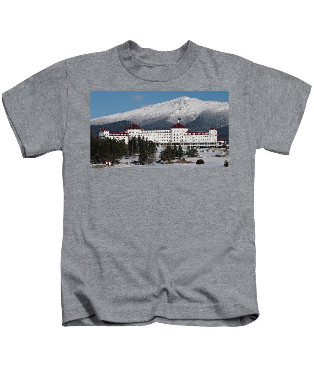 the Mount Washington Hotel Kids T-Shirt featuring the photograph The Mount Washington Hotel by Paul Mangold