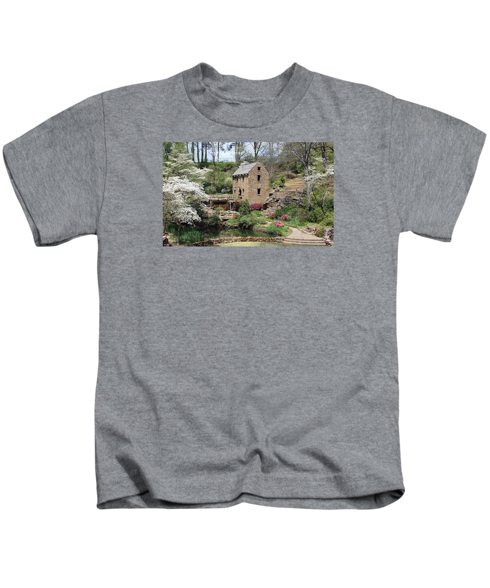 The Old Mill Kids T-Shirt featuring the photograph The Old Mill by Kenneth Christenson