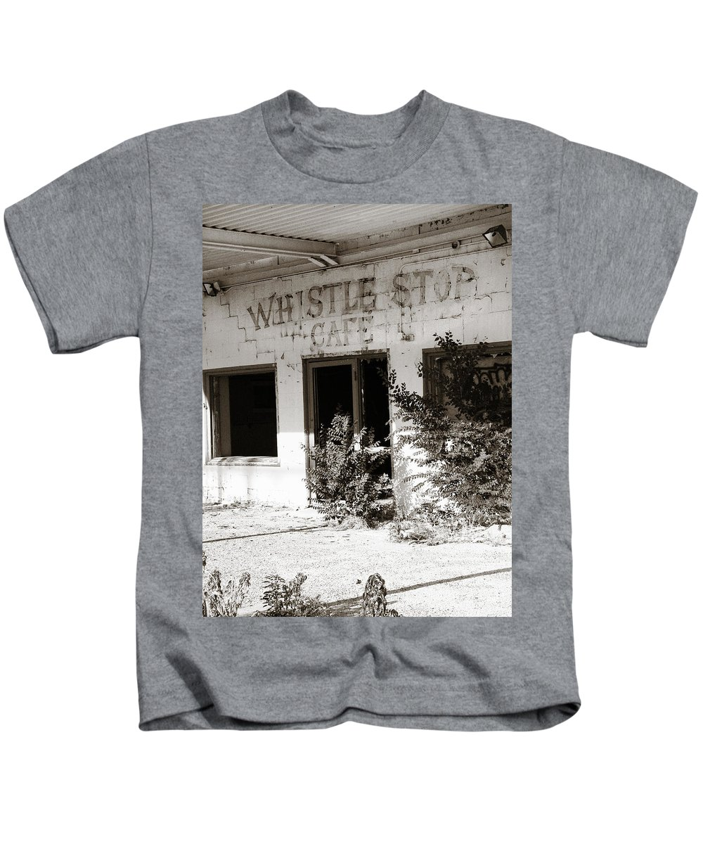 Whistle Stop Cafe Kids T-Shirt featuring the photograph The Old Whistle Stop Cafe by Marilyn Hunt