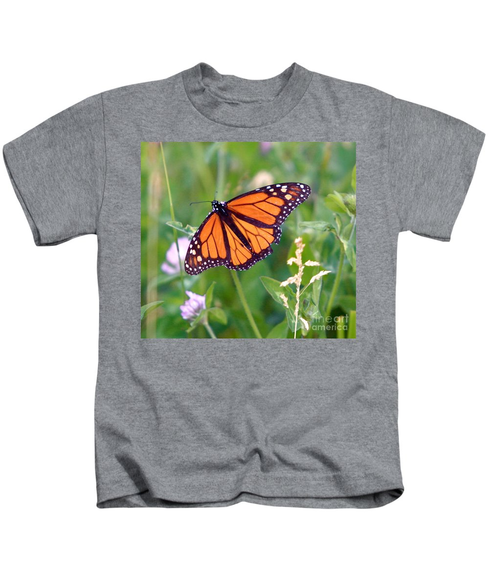 Butterfly Kids T-Shirt featuring the photograph The Orange Butterfly by Robert Pearson