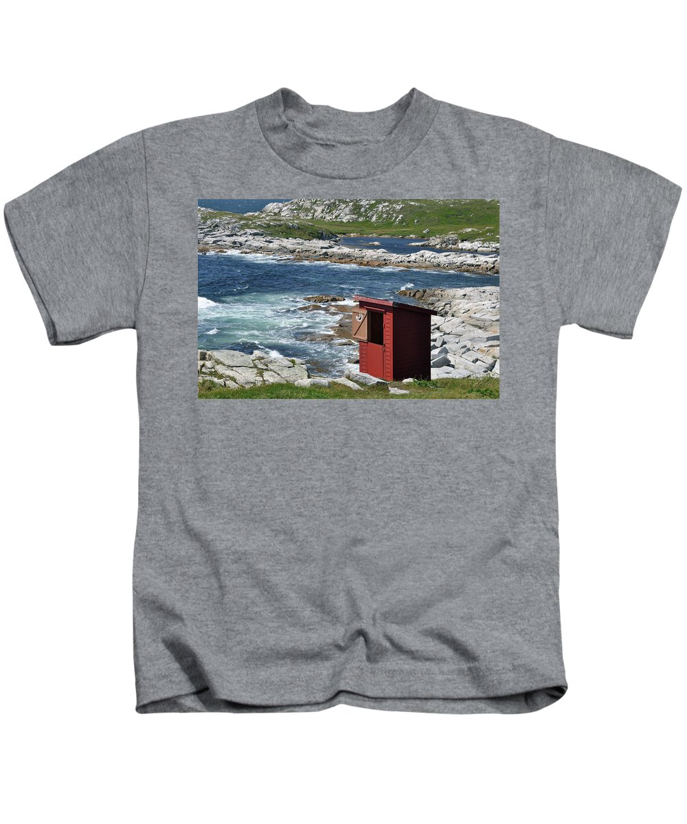 Outhouse Kids T-Shirt featuring the photograph The Outhouse? by Colleen English