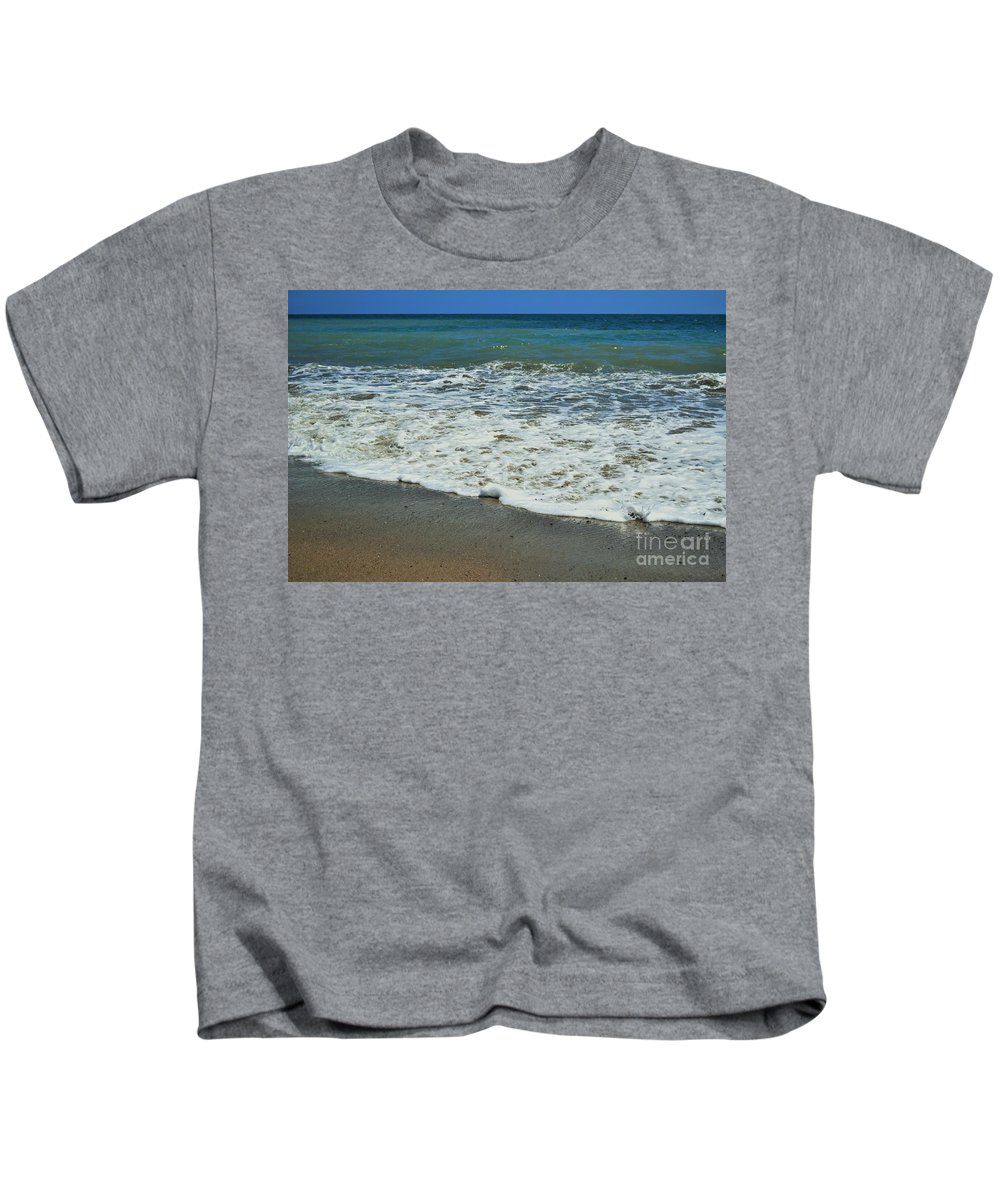 Beach Kids T-Shirt featuring the photograph The Pacific Ocean by LKB Art and Photography