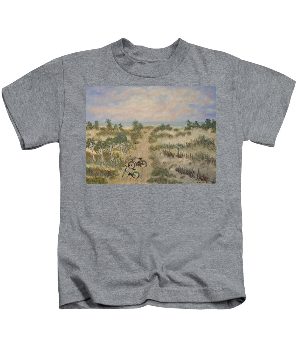 Beach Kids T-Shirt featuring the painting The Path by Ben Kiger