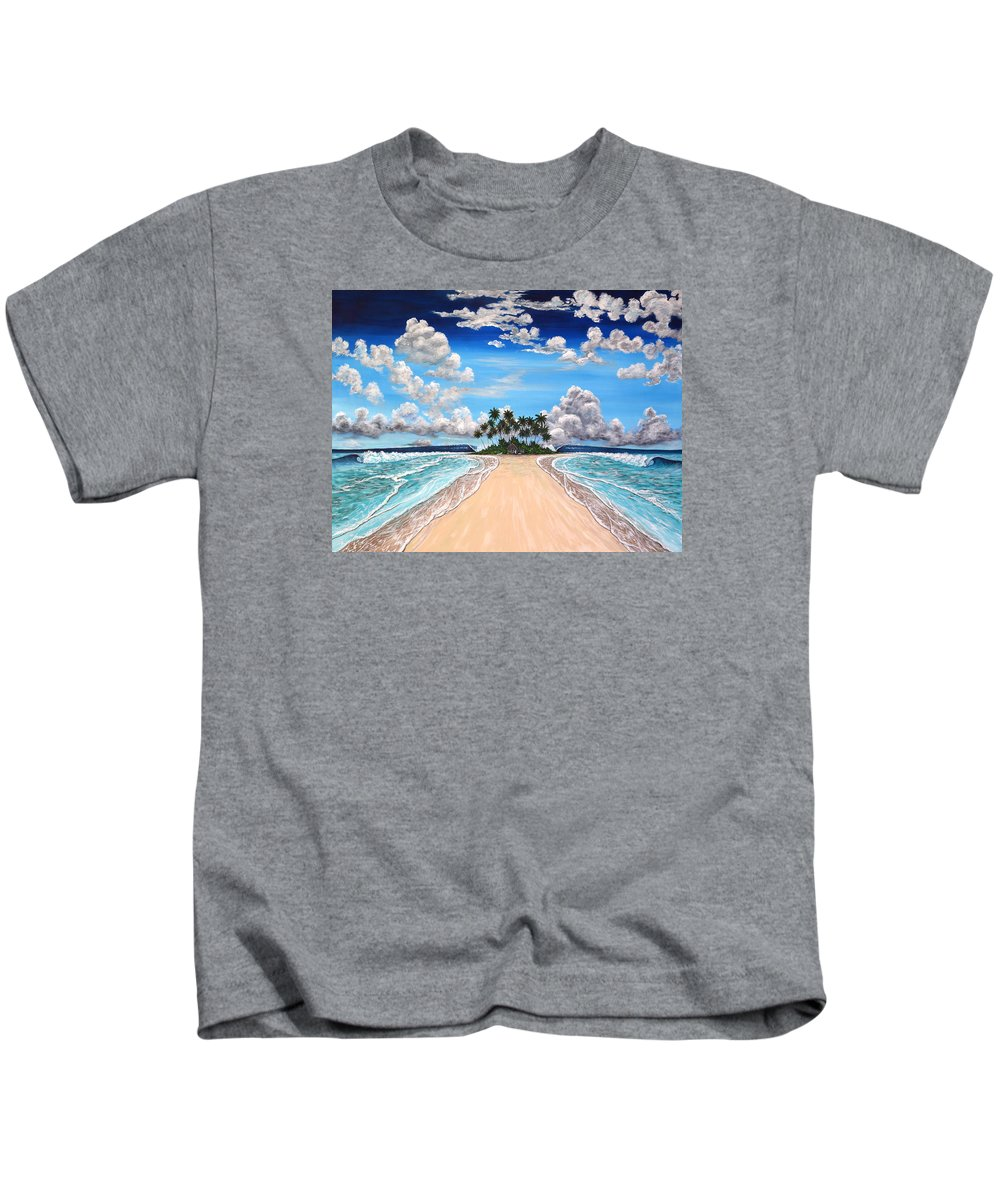 Tropical Kids T-Shirt featuring the painting The Pearly Gates by Marty Calabrese