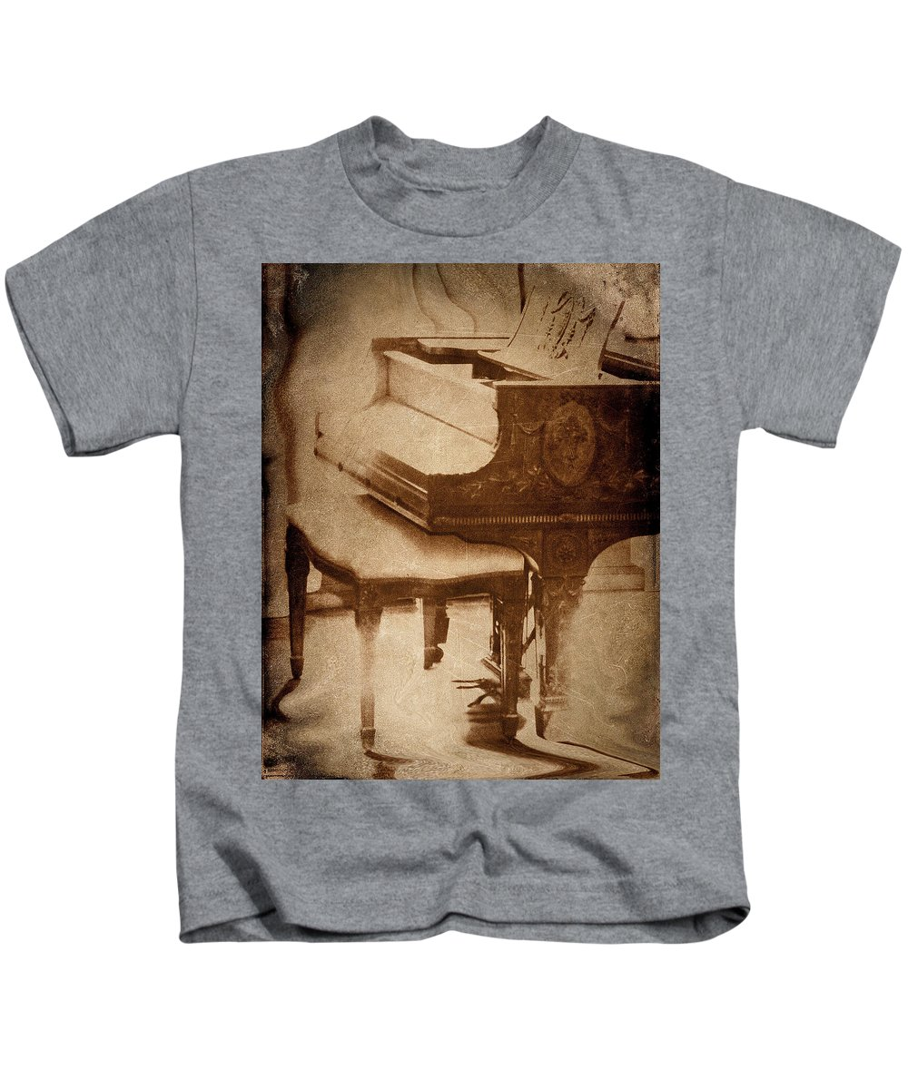 Glowing Kids T-Shirt featuring the photograph The Piano... by Arthur Miller