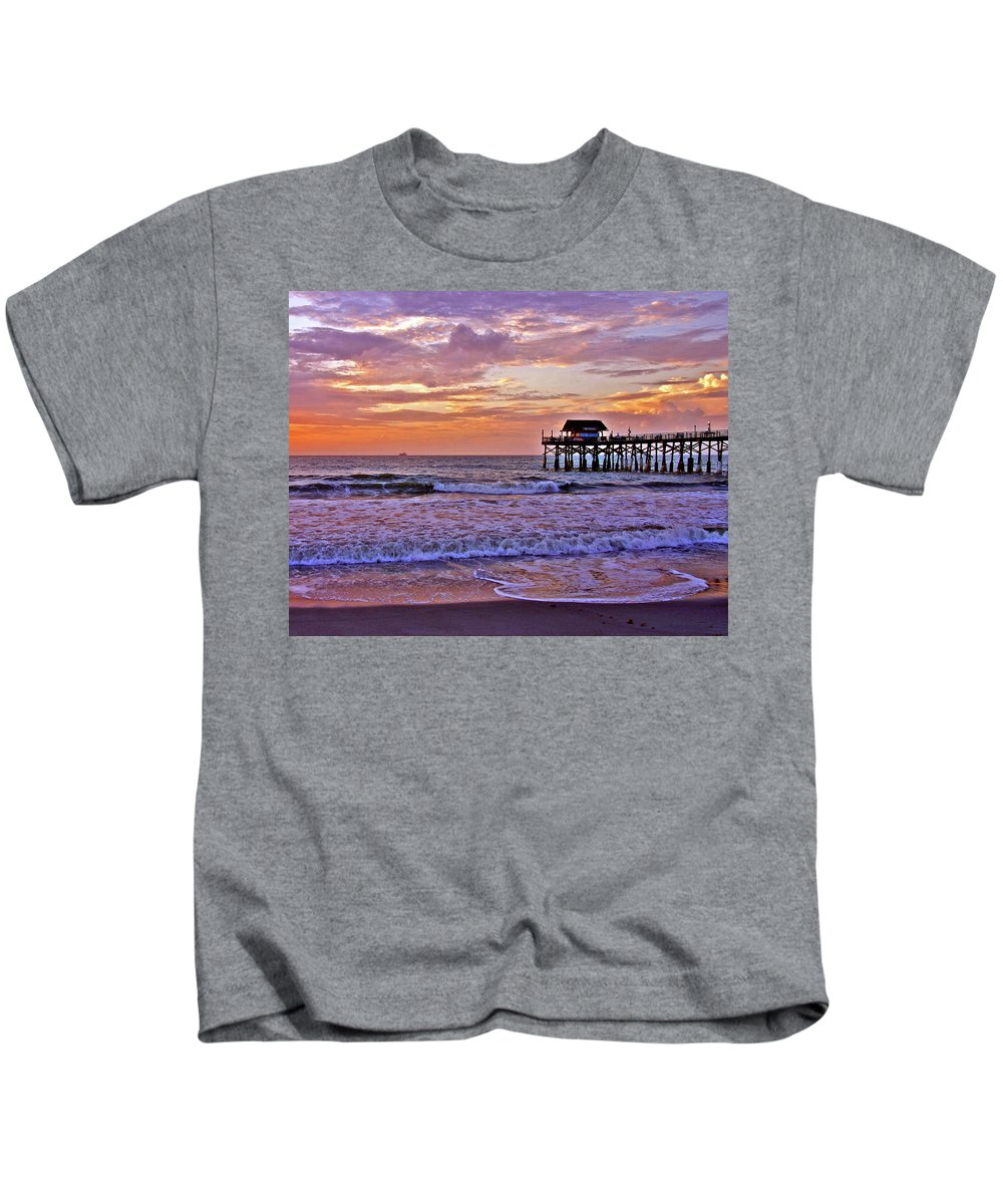 Sunset Kids T-Shirt featuring the photograph The Pier by Scott Mahon