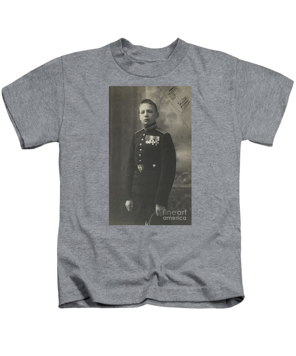 The Prince Of The Blood Igor Konstantinovich Romanov Of Russia Kids T-Shirt featuring the painting The Prince Of The Blood Igor by MotionAge Designs