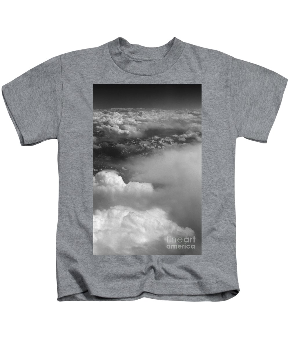 Aerial Photography Kids T-Shirt featuring the photograph The Rockies by Richard Rizzo