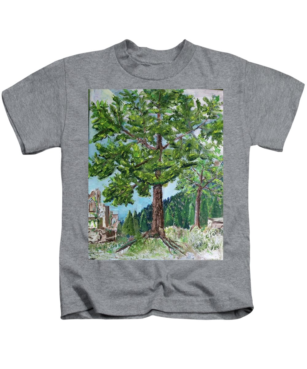 Scenery Kids T-Shirt featuring the painting The Ruins by Sal Cutrara