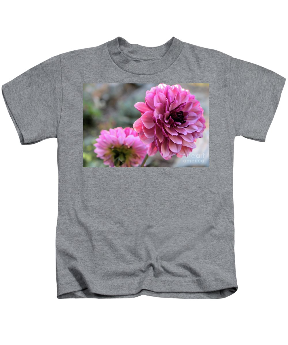 Dahlia Kids T-Shirt featuring the photograph The Sleeping Beauty 2 by Victor K