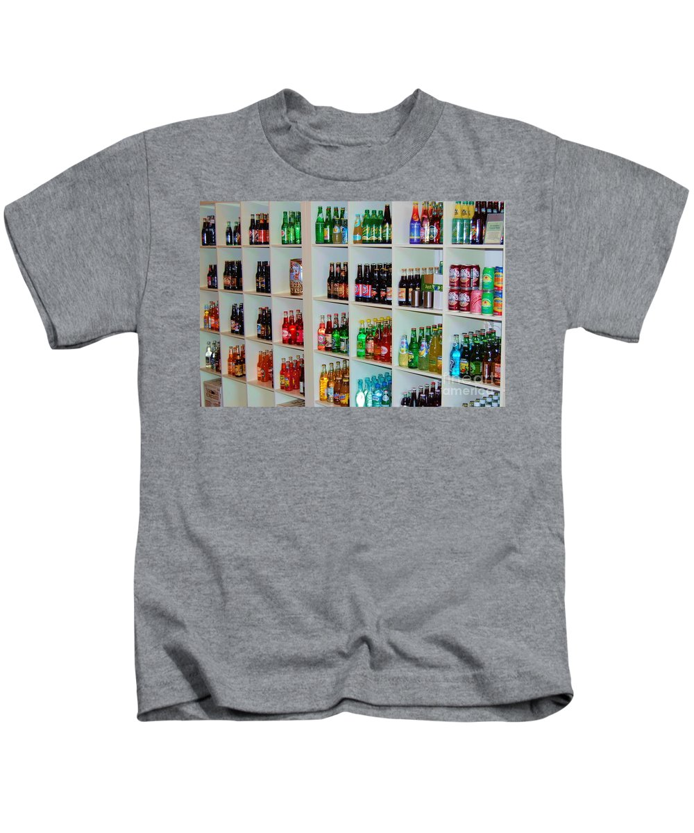 Soda Kids T-Shirt featuring the photograph The Soda Gallery by Debbi Granruth